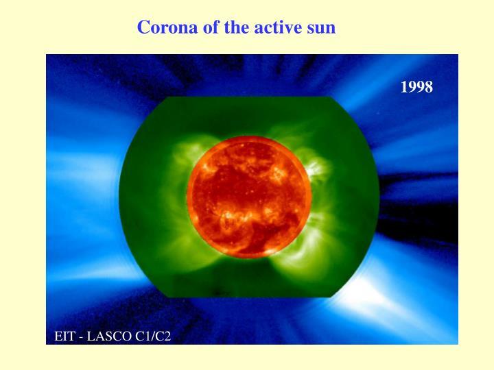 Corona of the active sun