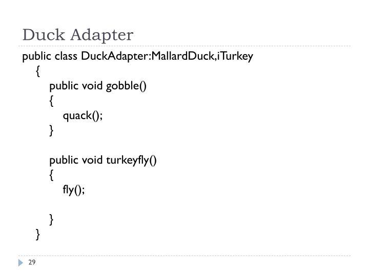 Duck Adapter