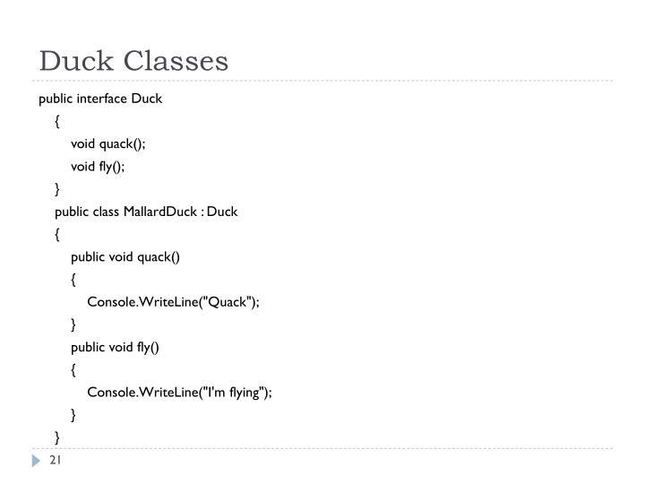 Duck Classes