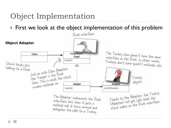 Object Implementation