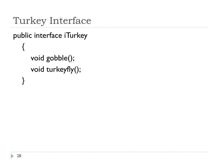 Turkey Interface