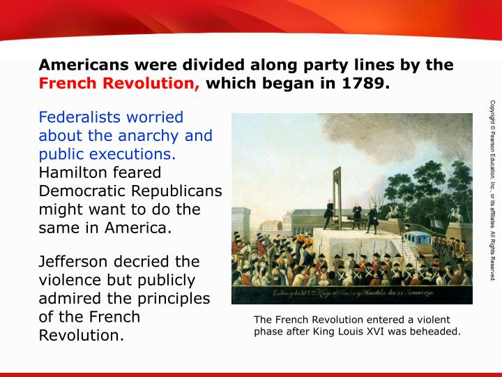 Americans were divided along party lines by the