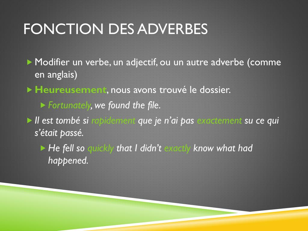 Ppt Les Adverbes Powerpoint Presentation Free Download Id 6236357
