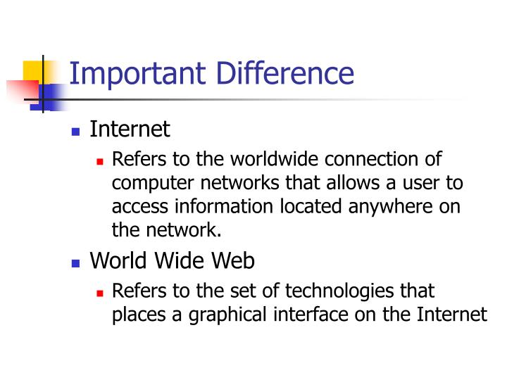 Important difference