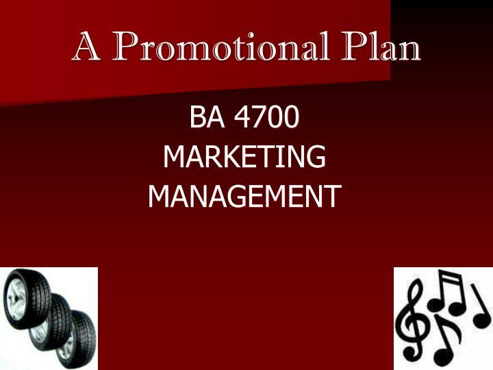 A promotional plan