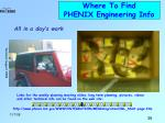 where to find phenix engineering info