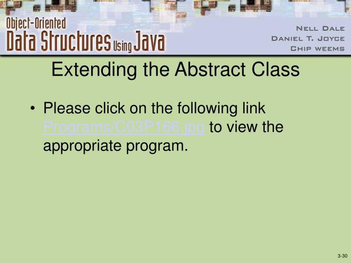 Extending the Abstract Class