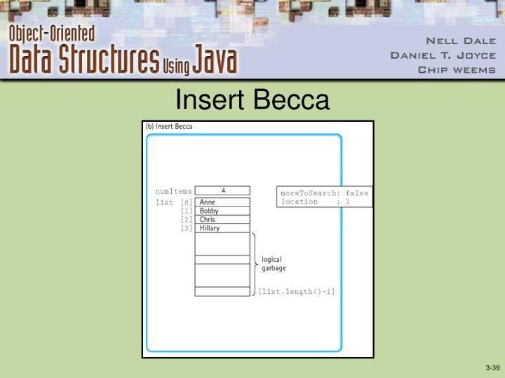 Insert Becca