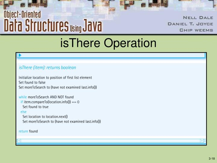 isThere Operation