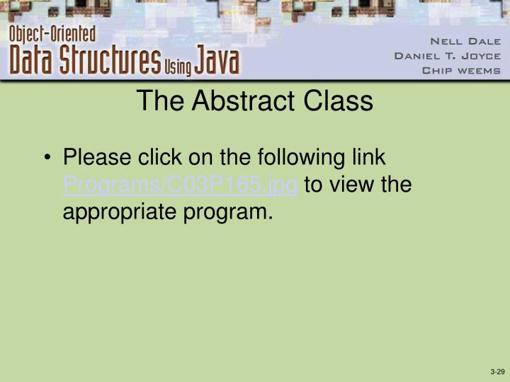 The Abstract Class
