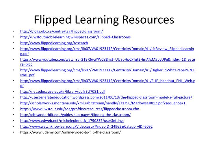 Flipped Learning Resources