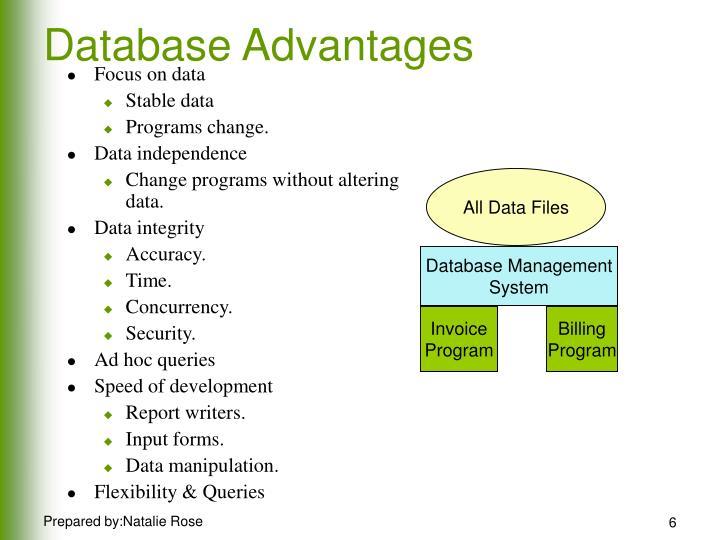 Focus on data