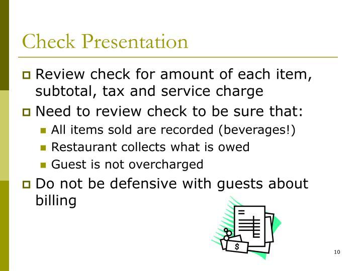 Check Presentation