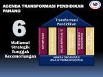 agenda transformasi pendidikan pahang