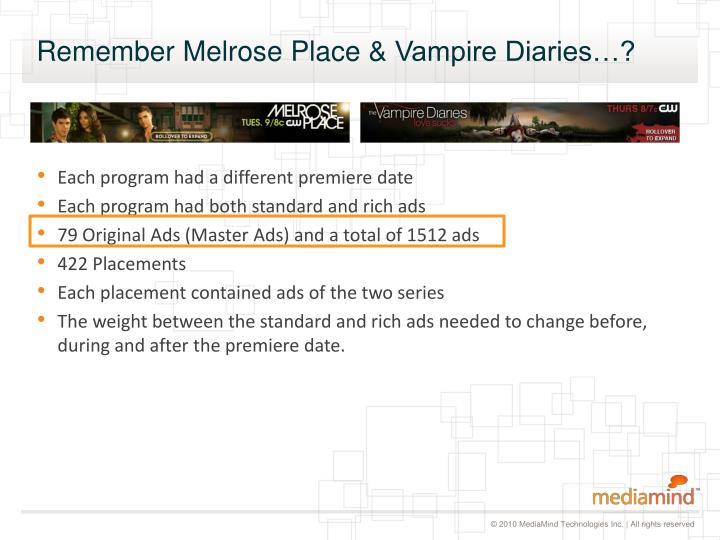 Each program had a different premiere date
