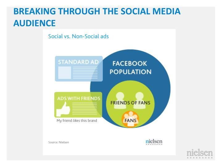 BREAKING THROUGH THE SOCIAL MEDIA AUDIENCE