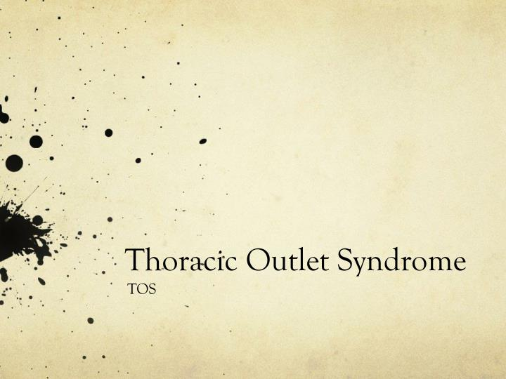 thoracic outlet syndrome n.