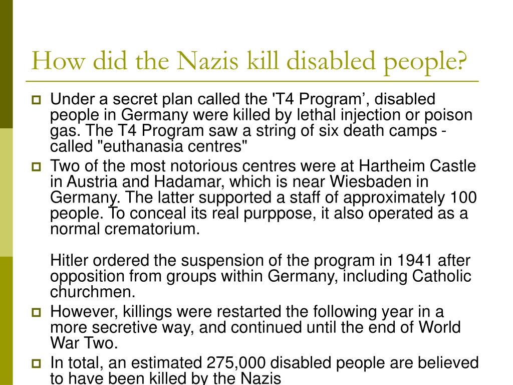 PPT - The disabled in Nazi Germany PowerPoint Presentation