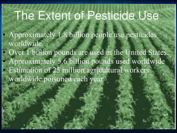 The extent of pesticide use
