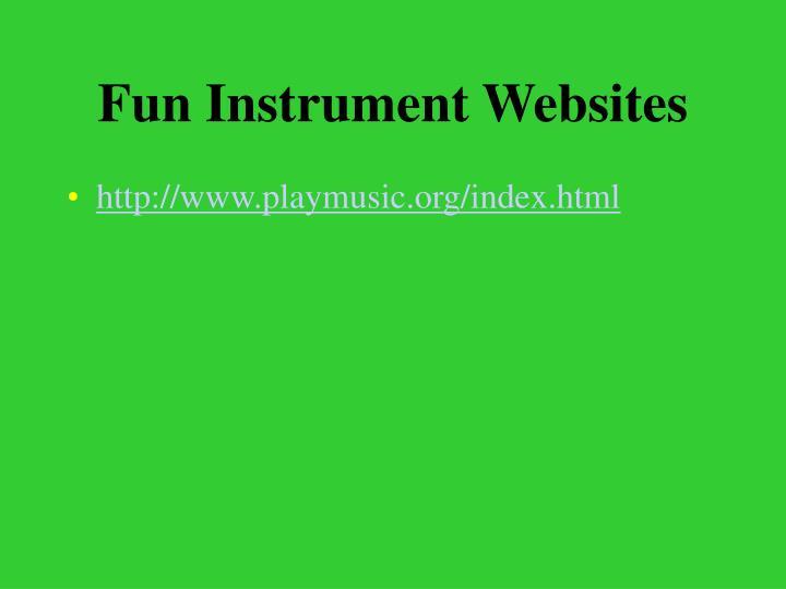 Fun Instrument Websites