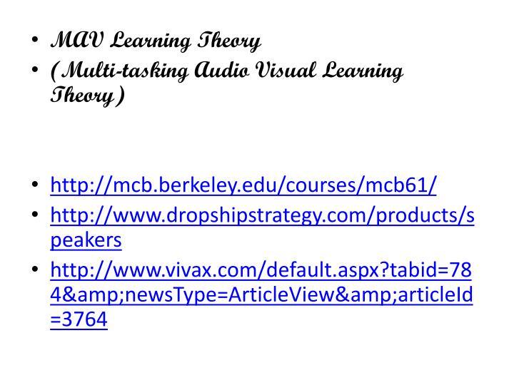 MAV Learning Theory