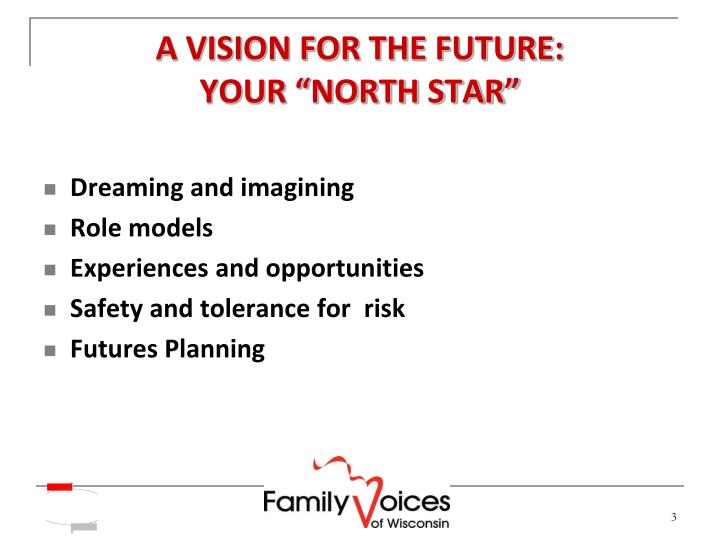 A VISION FOR THE FUTURE: