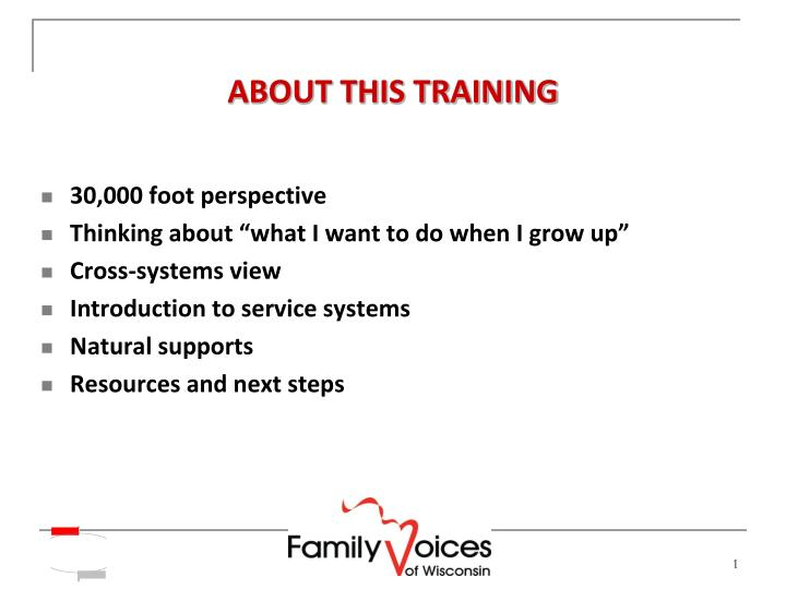 About this training