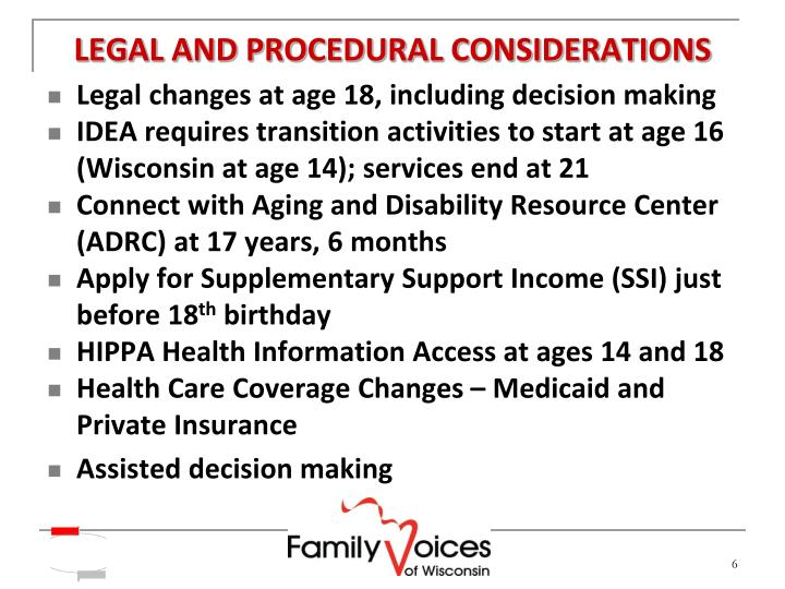 LEGAL AND PROCEDURAL CONSIDERATIONS