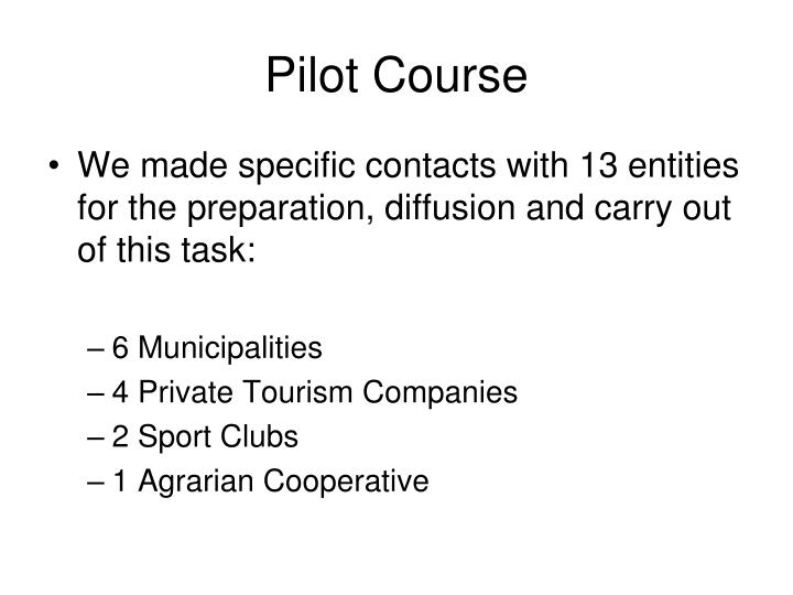 Pilot Course