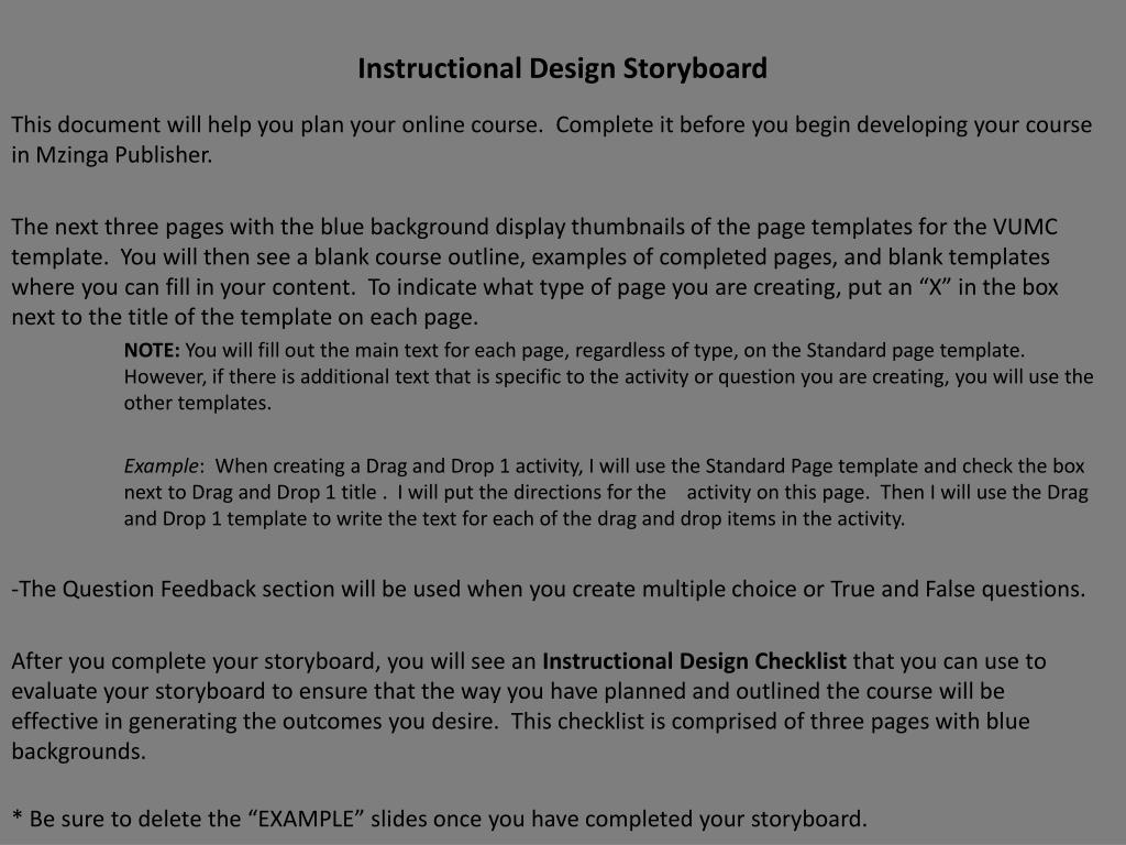 Ppt Instructional Design Storyboard Powerpoint Presentation Free Download Id 6237698