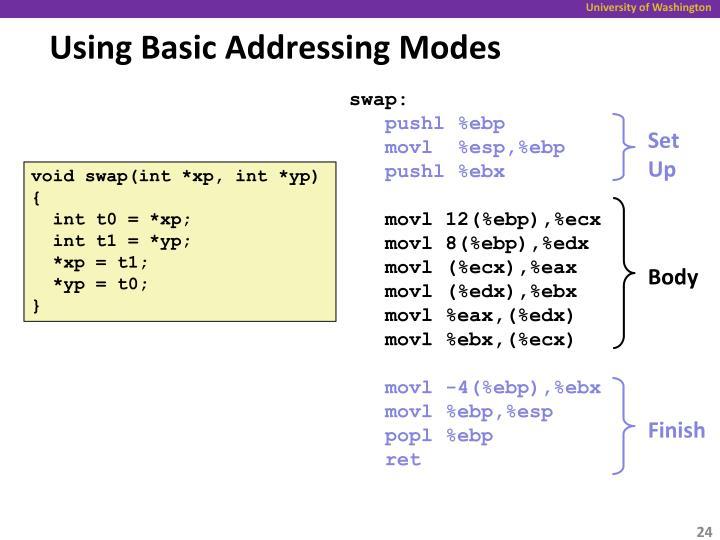 Using Basic Addressing Modes