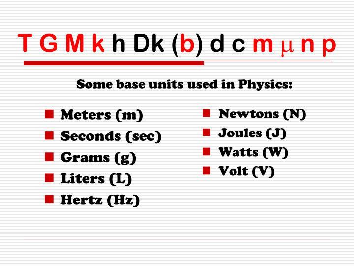 Meters (m)