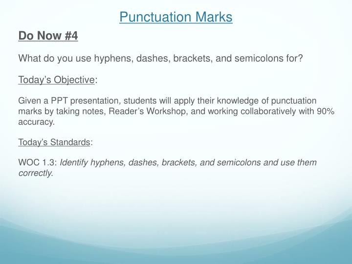 punctuation marks n.