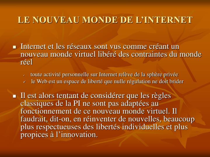 LE NOUVEAU MONDE DE L'INTERNET