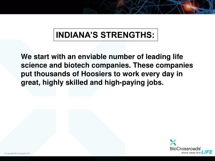 Indiana's Strengths: