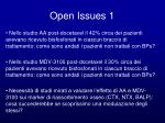 open issues 1