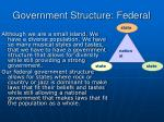 government structure federal