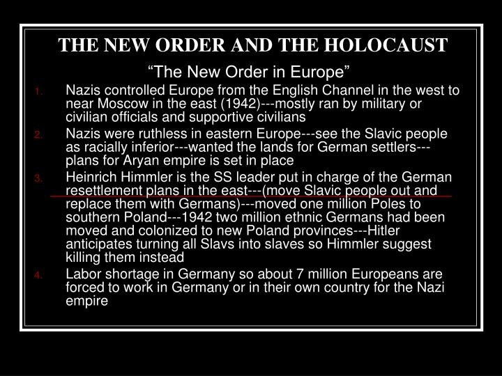 the new order and the holocaust n.