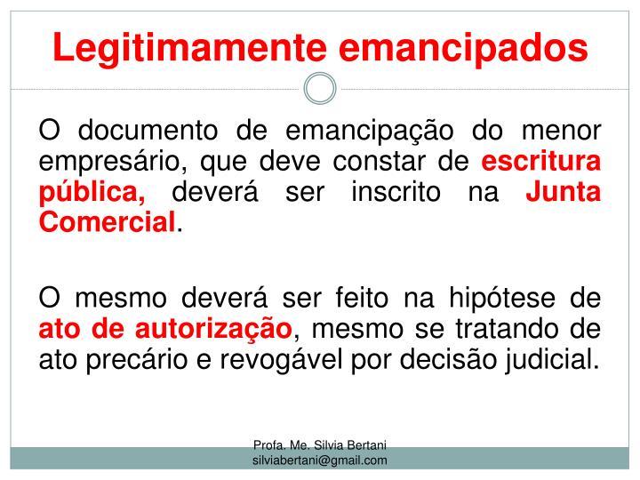 Legitimamente emancipados