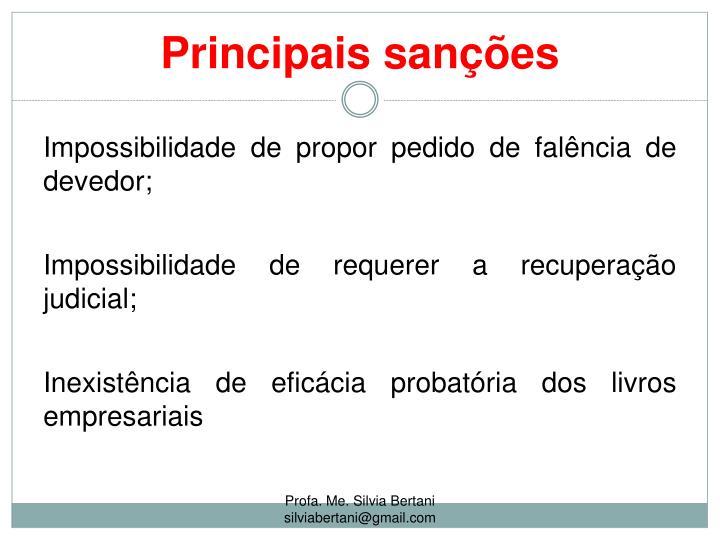 Principais sanções