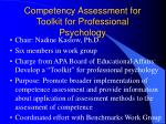 competency assessment for toolkit for professional psychology