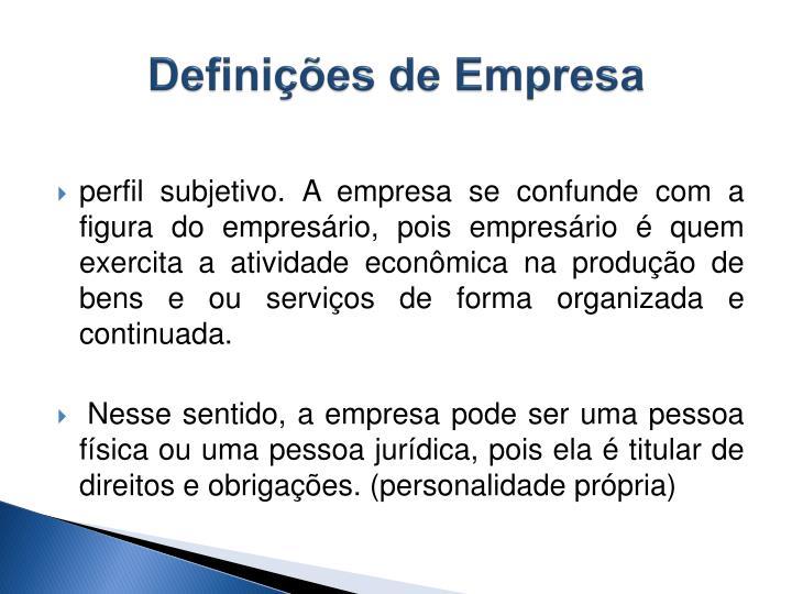 Definições de Empresa