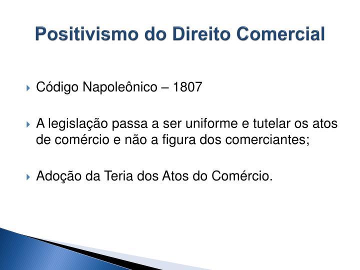 Positivismo do Direito Comercial