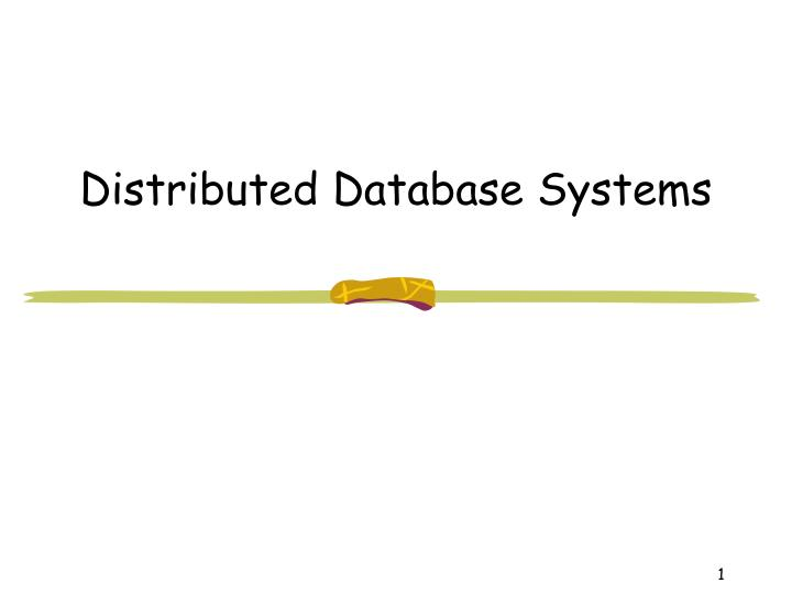 distributed database systems n.