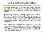 sdd 1 dictionary directory