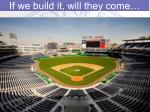 if we build it will they come