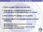 mathematics core concepts