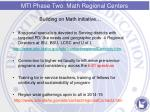 mti phase two math regional centers