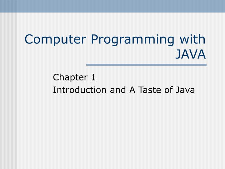 computer programming with java n.
