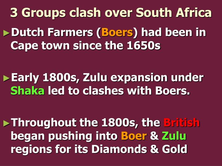 3 Groups clash over South Africa